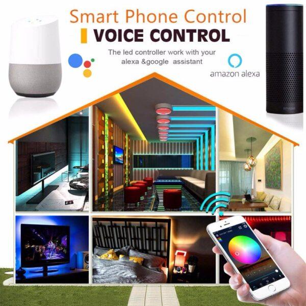 Color-Chasing-Alexa-LED-Strip-Light-Kit-32-8Ft-10m-Flexible-Addressable-RGB-LED-Rope-Lights