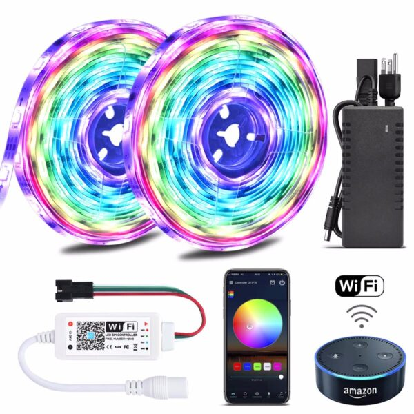 Color-Chasing-Alexa-LED-Strip-Light-Kit-32-8Ft-10m-Flexible-Addressable-RGB-LED-Rope-Lights.