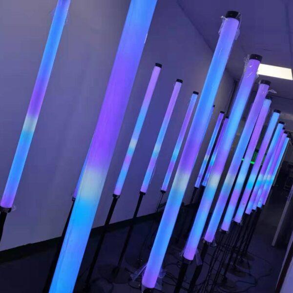 Fast Connection 360 Viewing 40mm Diamter Spi Digital Rgb Led Tube Dc24v 24pixels M Rose Lighting