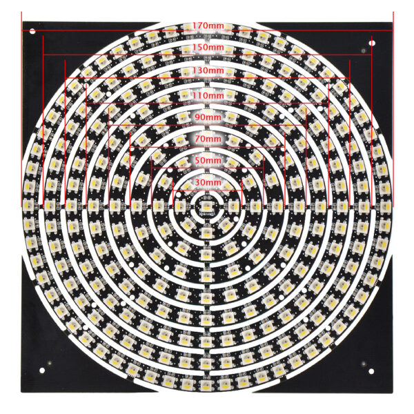 pixel rgbw led ring size